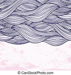 Purple abstract waves background