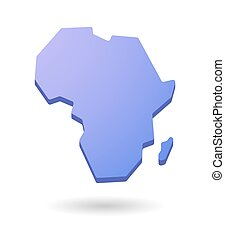 purple Africa continent map icon