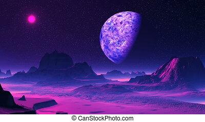 Purple Alien Planet