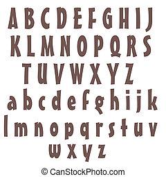 Purple Alphabet Letters