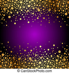 purple and gold luxury background