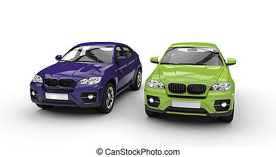 Purple And Green Suv