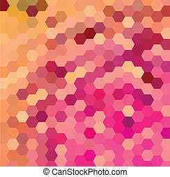 Purple and orange hexagonal pattern