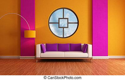 purple and orange lounge