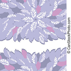 Purple and pink floral borders