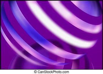 Purple and Silver Striped Ball