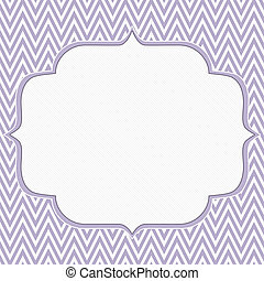 Purple and White Chevron Zigzag Frame Background with center...
