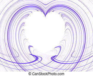 Purple and White Heart Copy Space