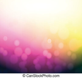 purple and yellow bokeh abstract light background.