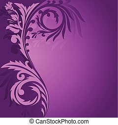 Purple asymmetrical ornament - abstract purple background...
