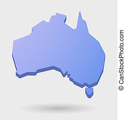 purple Australia map shape icon