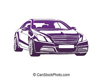 Purple automobile big boss