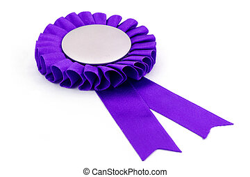 purple award ribbons badge