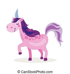 Purple baby unicorn