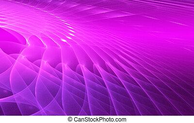 Purple background.
