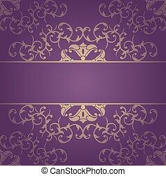 Purple background baroque vector