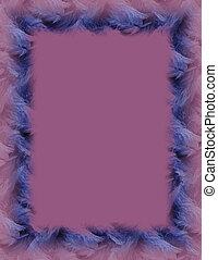 Purple Background - Blue frame on purple.