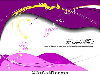 Purple background. Vector illustration