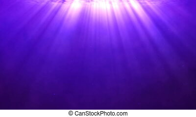 Purple background with divine light shining from above -...