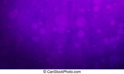 Purple background with floating particles