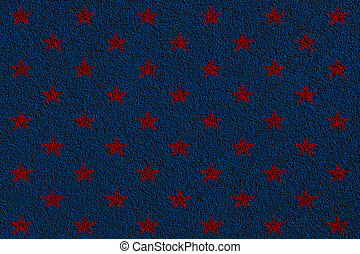 purple background with red stars