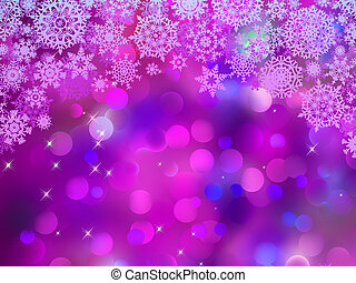 Purple background with snowflakes. EPS 8
