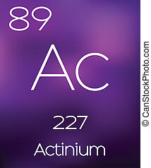 Purple Background with the Element Actinium
