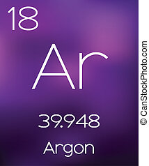 Purple Background with the Element Argon