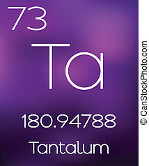 Purple Background with the Element Tantalum