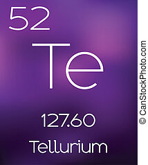 Purple Background with the Element Tellerium