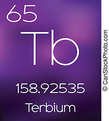Purple Background with the Element Terbium