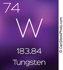 Purple Background with the Element Tungsten