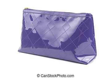 purple bag for cosmetics