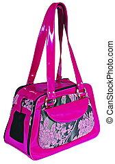 Purple bag for dog