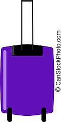Purple bag, illustration, vector on white background.