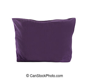 purple bag on white background