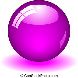 Purple Ball - Illustration of a purple ball. Available in...