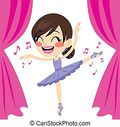 Purple Ballerina Tutu Dancer - Beautiful ballet dancer girl...