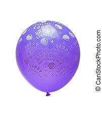 purple balloon isolated