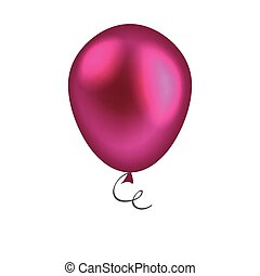 Purple balloon isolated on white background