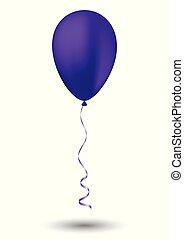 Purple balloon on white background