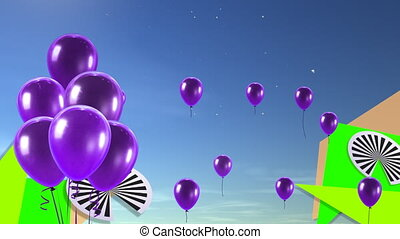 purple balloons background