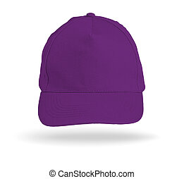 Purple Baseball Cap on a white background.