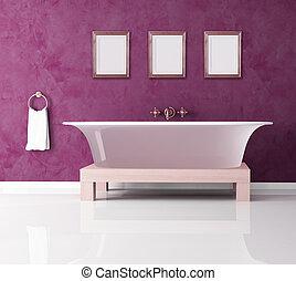 purple bathroom - classic purple bathroom with fashion...