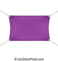 Purple Blank Empty Horizontal Rectangular Banner
