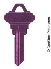 Purple Blank Key Macro Isolated
