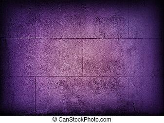 Purple block wall