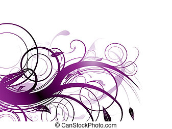 purple bloom - Purple inspired natural image with flowing...