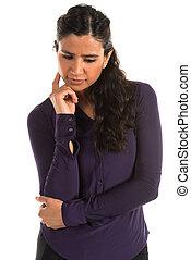 Purple blouse - Beautiful tall Indian woman in a purple...
