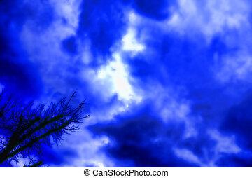 Purple Blue Clouds
